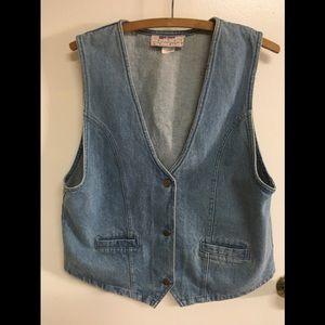 80s vintage denim vest. Size large